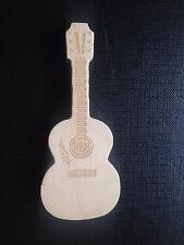 1 New Wooden Guitar Shaped Model, 128MB USB Flash Drive Memory Stick