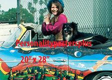 """Janis Joplin~Color~Porsche~ Poster~20"""" x 28"""" Photo"""