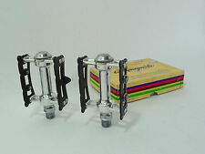 "Campagnolo Pedal Set Record SuperLeggeri Pista 9/16"" Vintage Track Bicycle NOS"