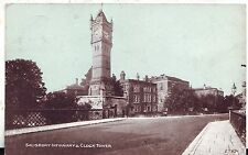 UK Salisbury - Infirmary & Clock Tower old postcard