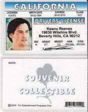 Keanu Reeves Drivers License FAKE ID I.D. Card star of the MATRIX / SPEED movies