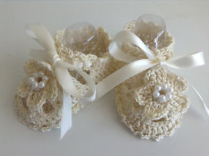 Handmade Crochet Booties Baby Shoes - USA SELLER -