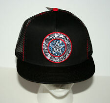 Marvel Comics Captain America Logo Mesh Baseball Cap Hat New Tags Snapback Osfm