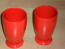 2 sehr große Becher - Keramik intensives rot - originell auch für Deko - 13x8cm