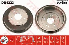 Brake Drum fits HONDA CR-V Mk1 2.0 Rear 95 to 02 220mm TRW 42610S70000 Quality