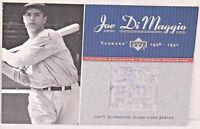 2001 JOE DiMAGGIO Upper Deck Pinstripe Exclusive Game Used Jersey 26/100 YANKEES