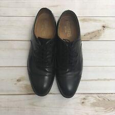 Johnston & Murphy Men's Size 10 Melton Optima Cap Toe Black Formal Dress Shoes