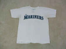 Seattle Mariners Shirt Adult Small White Green Baseball Ichiro Suzuki Mens *