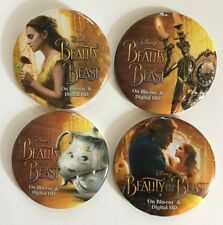 Beauty and the Beast 2017 set of 4 Collectors Buttons Pins Emma Watson Princess