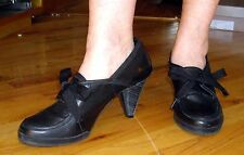 Jay Walk J Shoes Black Florence Heeled Ribbon Laces Dance Shoes Size 8 / 39 w/bx