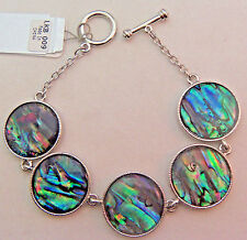 PAUA Shell abalone Nature's 1 Link Bracelet Wheeler Mfg. lkb 009 Rounds