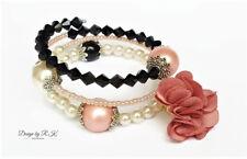 Beaded Bracelet Wrap Memory Wire Bangle Women Jewellery Handmade Pearl Bracelet