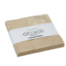Moda Fabric Grunge Charm Pack Tan - Patchwork Quilting 5 Inch Squares