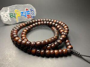 Tibetan antique bodhi yoga Mala beads 19th Buddhist prayer beads 110 pieces