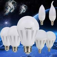 E14/E27  110V-220V LED Energy Saving Light Bulb Globe Lamp Warm White 3/5/7/9W