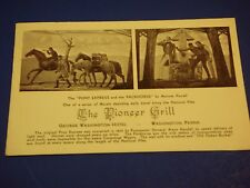 Pioneer Grill Pony Express George Washington PA Hotel Vintage Postcard PC6