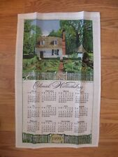 COMPLETE NEW SET 2007 COLONIAL WILLIAMSBURG CALENDAR TOWEL - JOHN BLAIR KITCHEN