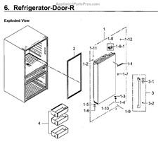 Samsung DA91-04192A Assembly Door Foam-Ref Right