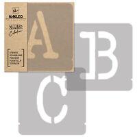 Pochoirs Lettres et Chiffres / 50mm / Typewriter Majuscule / Alphabet Nombres