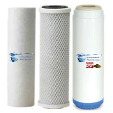 Sediment Carbon Block Carbon KDF55 Filter Set Chlorine/Heavy Metals/ VOC's