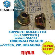 Qtà 2 pezzi= SUPPORTO RINVIO CONTACHILOMETRI VESPA 50 - 564053 ORIGINALE PIAGGIO