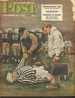 NOV 25 1950 SATURDAY EVENING POST magazine FOOTBALL - REFEREE