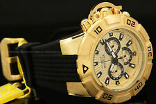 New Invicta Men 52MM I FORCE 18K Gold Plated Multi Function Silicone Strap Watch