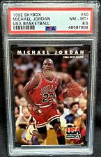 Michael Jordan 1992 Skybox USA Team #40 PSA 8.5 Near Mint - Mint + HOF 1992-93