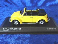 + VOLKSWAGEN VW Käfer 1303 Cabrio von Minichamps 1:43 + Saturngelb + 430055144