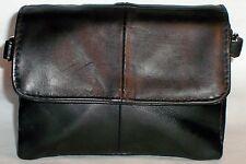 "Genuine Lambskin Leather Handbag Shoulder Bag Purse 50"" 7"" x 5"" x 2"" Small Black"