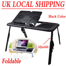 Adjustable Laptop Computer Desk Foldable Table Sofa Bed Tray With Cooling Fans Style 6