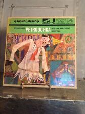 Vintage Stravinsky Petrouchka Boston Symphony Reel to Reel 4 track RCA Music