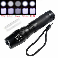 Tactical 10000LM T6 LED Zoomable 5 Modes Police Flashlight 26650/18650 Torch USA