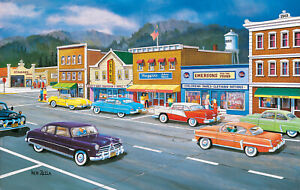 MAIN STREET MEMORIES by KEN ZYLLA - SunsOut 550 piece puzzle - NEW