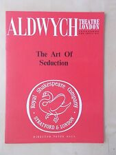 1960's ALDWYCH THEATRE PROGRAMME - THE ART OF SEDUCTION - DIANA RIGG JOHN BARTON