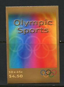U639 Australia 2000 Olympic sports COMPLETE BOOKLET MNH