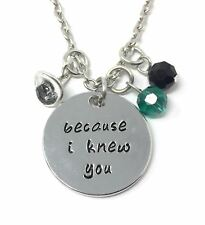 925 Silver Plt 'because I Kyou' Engraved Necklace Wicked Witch Good Hat D