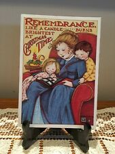 "Vintage Mary Engelbreit card ""Remembrance Like A Candle Burns Bright At Xmas"""