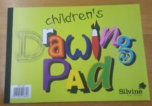 A4 SILVINE CHILDREN'S SKETCHING AND DRAWING BOOK 20 SHEETS