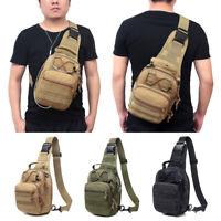 Men's Molle Tactical Sling Chest Bag Backpack Messenger Shoulder Pack Pouches