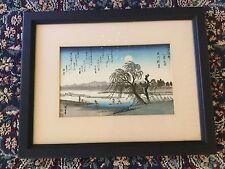 "Ando Hiroshige ""Autumn Moon on the Tama River"" Woodblock Print"