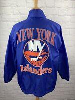 MINT! Vintage 90's NHL New York Islanders Apex One Hockey Windbreaker Jacket LG