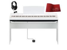 Yamaha P125 White Pianoforte digitale bianco con stand + copritastiera + cuff...