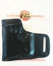 Kahr PM9 PM40 CM9 CM40 Black Leather OWB LH Holster by DON HUME WITH LASER