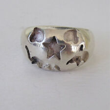 THICK STERLING SILVER HEART STAR ELEPHANT DOLPHIN RING SIZE 8  NEPAL