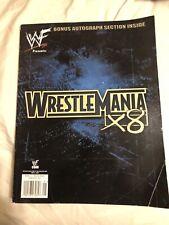 WWF Presents WrestleMania X8 Program Magazine Rock Hogan