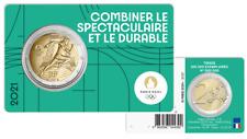 PREVENTE Coincard BU 2 Euros Commémorative France 2021 Olympic Vert