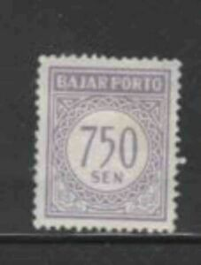 INDONESIA #J83 1962 750s POSTAGE DUE MINT VF LH O.G a