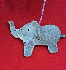ELEPHANT Trunk Up Lucky HANDMADE Unique ONE OF A KIND Estate Antique ORNAMENT