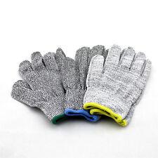 1 Paar Edelstahl Handschuhe Arbeitshandschuhe Schnittschutz Schnittfeste Grau